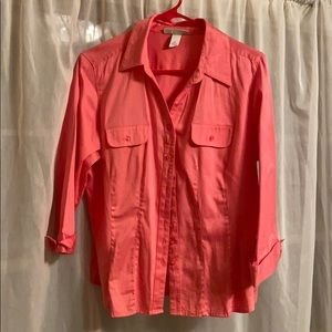 Non wrinkle pink blouse